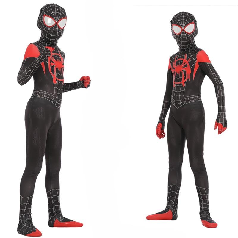 New spiderman skintight costume Halloween cosplay costume new era spiderman parallel universe.