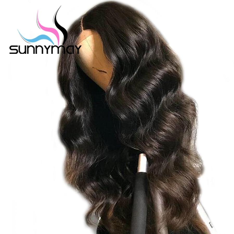 Sunnymay Body Wave Wigs Gubbeless Full Lace Մարդու Մազերի - Մարդու մազերը (սև)