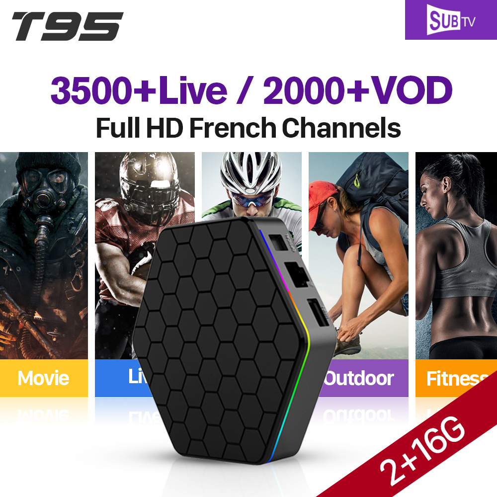 IPTV Arabic French Subtv IPTV Subscription 3500 Channels T95Z plus Android TV Box IPTV Europe Turkish Canada Germany IP TV Box