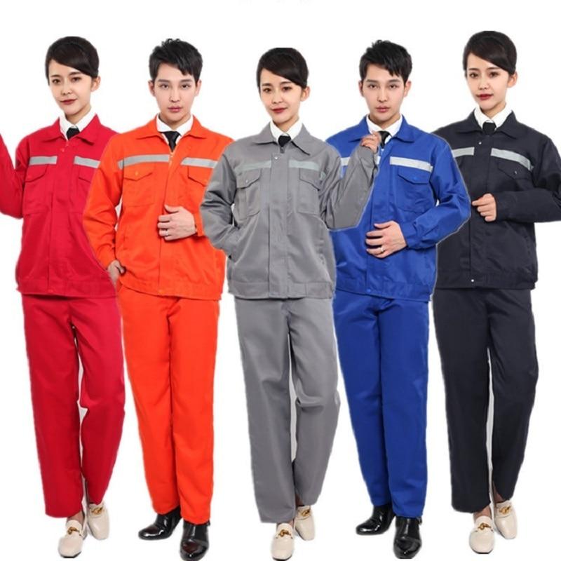Worker Clothing Workwear Clothes Set Unisex Workmen Factory Uniform Wear-resistant Repairman Auto Car Workshop Working Clothes