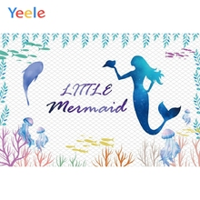 Yeele Mermaid Birthday Photocall fish Room Decor Photography Backdrops Personalized Photographic Backgrounds For Photo Studio