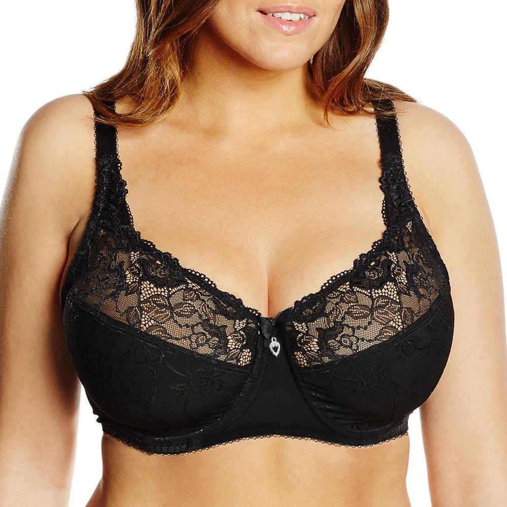 Ladies Secret New Women Full Cup Sexy Lingerie Unlined Lace Bralette Underwire Big Size Bra A B C D E F G 75 80 85 90 95 100 105