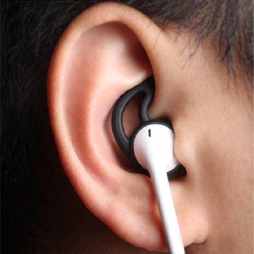 New 2017 Earphone Cover Tips Hook for Airpods Anti-Slip Soft Silicone drop shipping