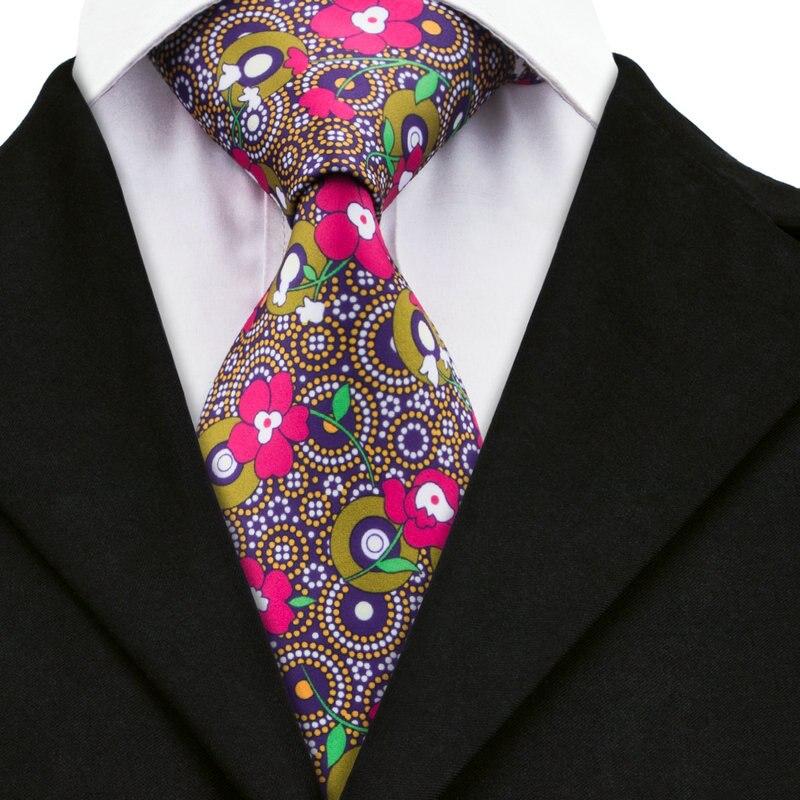 A-1205 Floral Herren Krawatten Krawatten Druckes Silk Krawatten Für Herren Hochzeit Anzüge Herren Mode Gravata Mit Marke Hallo-krawatte