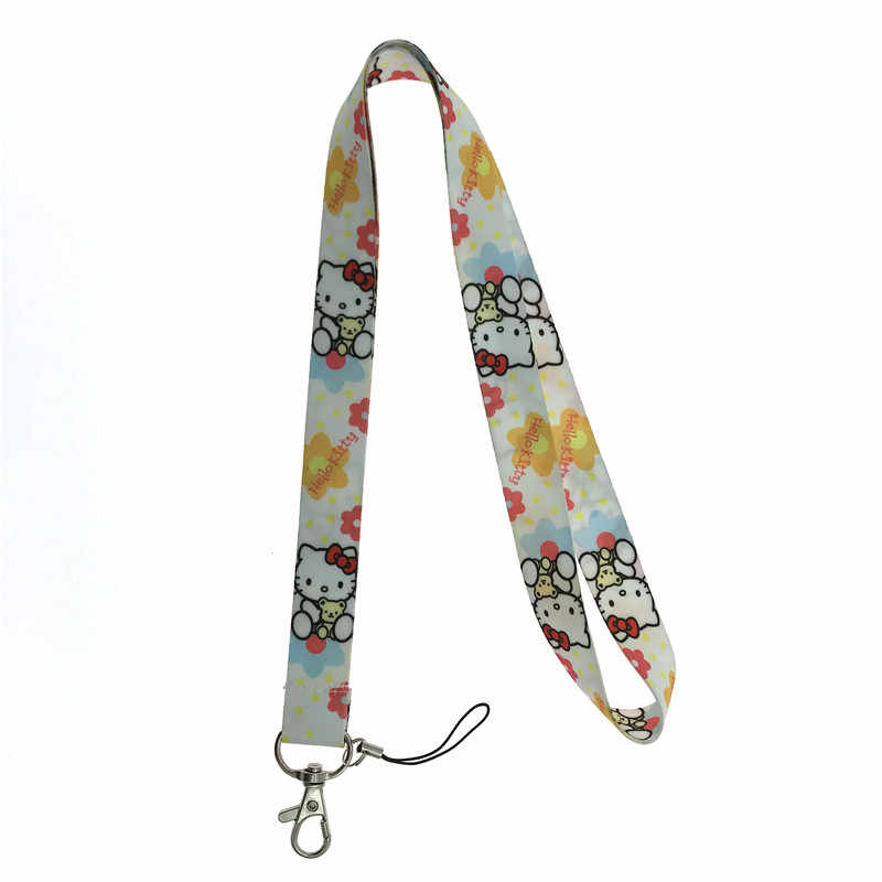 cf0d459f8 ... EUPNHY 1Pcs Hello Kitty Cell Phone Keys Neck Strap Lanyard ID Holder  Cartoon Lanyards Randomly Send ...