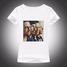 BONO VOX U2 funny t shirts WOMEN 2017 SUMMER NEW jollypeach brand Tee shirt femme soft casual tshirt Short Sleeve T-Shirts