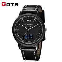 OTS Brand Men's Sports Watches Outdoor Water Resistant Calories Watch Compass Men Watch