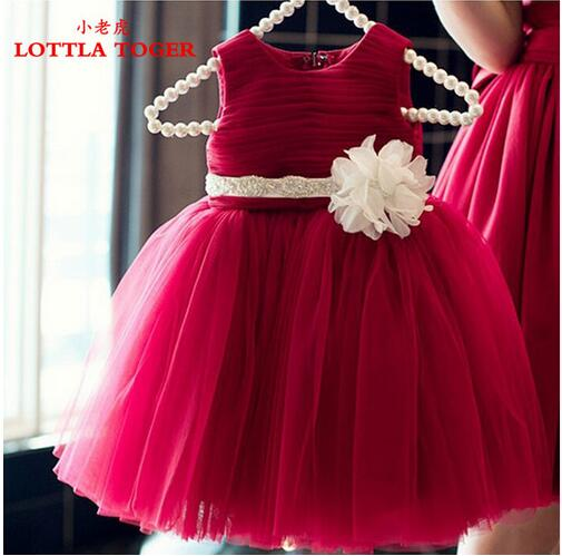 2017 Summer Newborn Formal Dress Purple Sleeveless Infant Baptism Ball Gown Dress Clothes For Toddle First Birthday Party