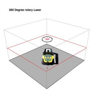 Image 4 - Niveau Laser rotatif à nivellement automatique rouge/vert de 500M, haute précision + règle de tour et trépied