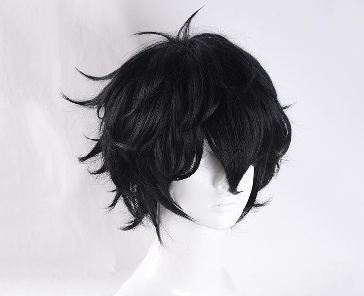 Persona 5 Joker Cosplay Hair Black Short Synthetic Hair Cosplay Wig For Halloween Unisex