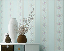 beibehang Simple modern bedroom nonwoven wallpaper idyllic living room dining pressure  papel de parede 3d tapety