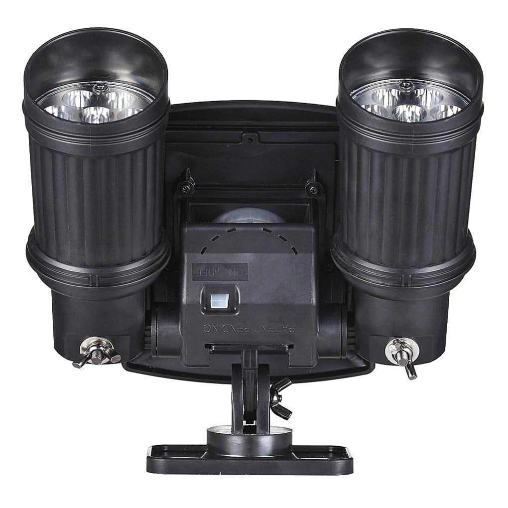 Двойной регулируемый открытый движения Сенсор PIR безопасности яркий светодиодный прожектор 7 м Кухонные плиты