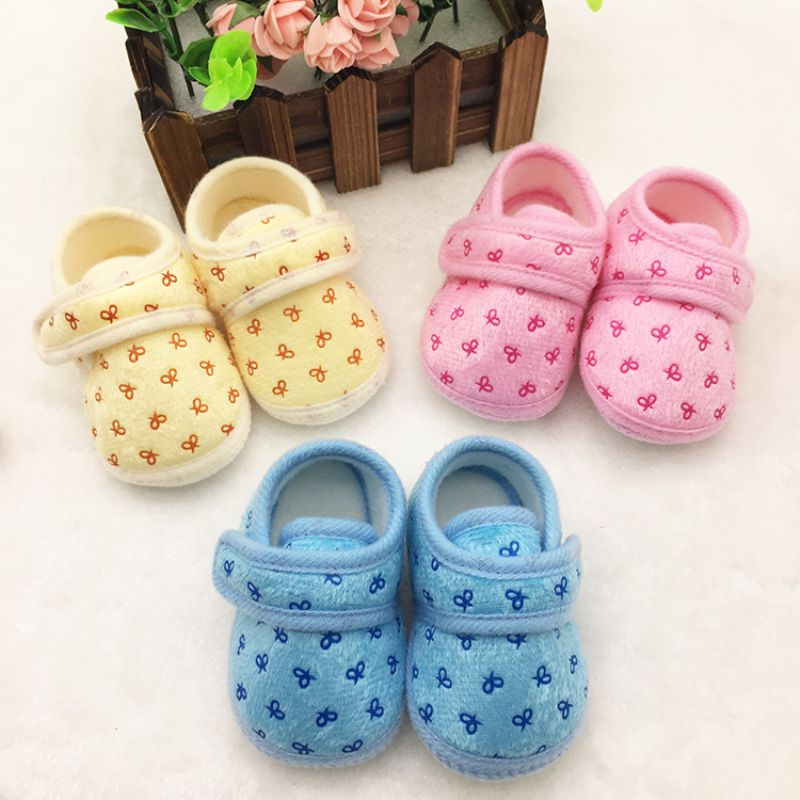 Cute Newborn Infants Kids Baby Shoes Cozy Cotton Soft Soled Crib Shoes Prewalker SL07