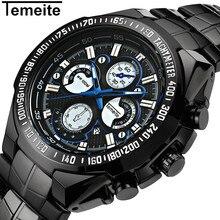 купить TEMEITE Brand Mens Watches Casual Quartz Sport Watch Men Waterproof Clock Date Fashion Relogio Masculino Men's Wristwatches по цене 1087.69 рублей