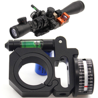 Airsoft Scope Angle Gauge Bubble Level Fit 25 4mm And 30mm Scope Mount Rings For Optical