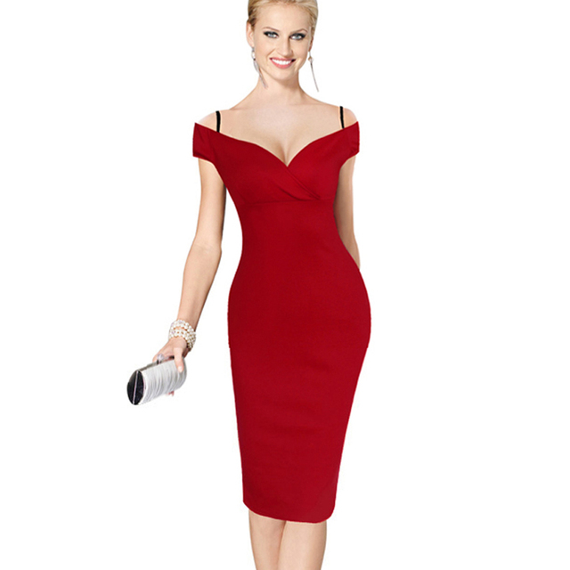 Women's Formal Mini Pencil Dress