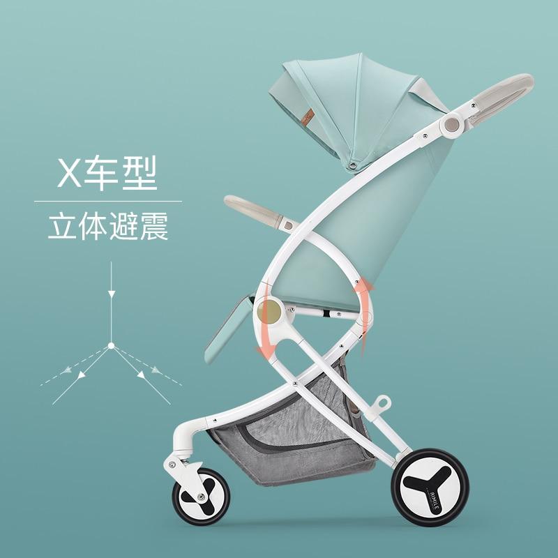 Aluminium alloy tires baby stroller high landscape light portable folding newborn children simple baby child umbrella stroller