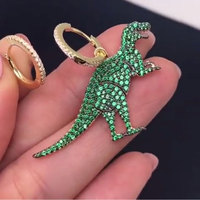 GODKI Mismatch Elegant Dinosaur Green Cubic Zirconia Party Bridal Engagement Earring Jewelry Addiction