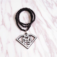 Wholesale Hyperbole and Hiphop Styles Letter MG Acrylic Pendants Necklace DJ Night Club Jewlery for Women Men
