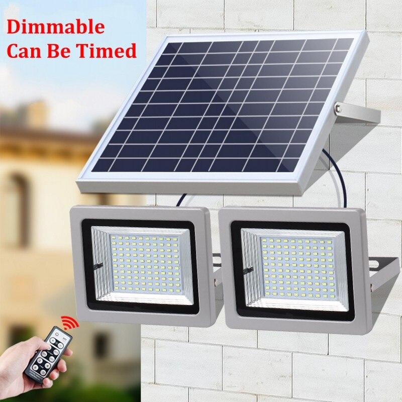 LED Floodlight Solar Light 5730 SMD Solar Powered LED Flood Light Sensor Outdoor Garden Security Wall