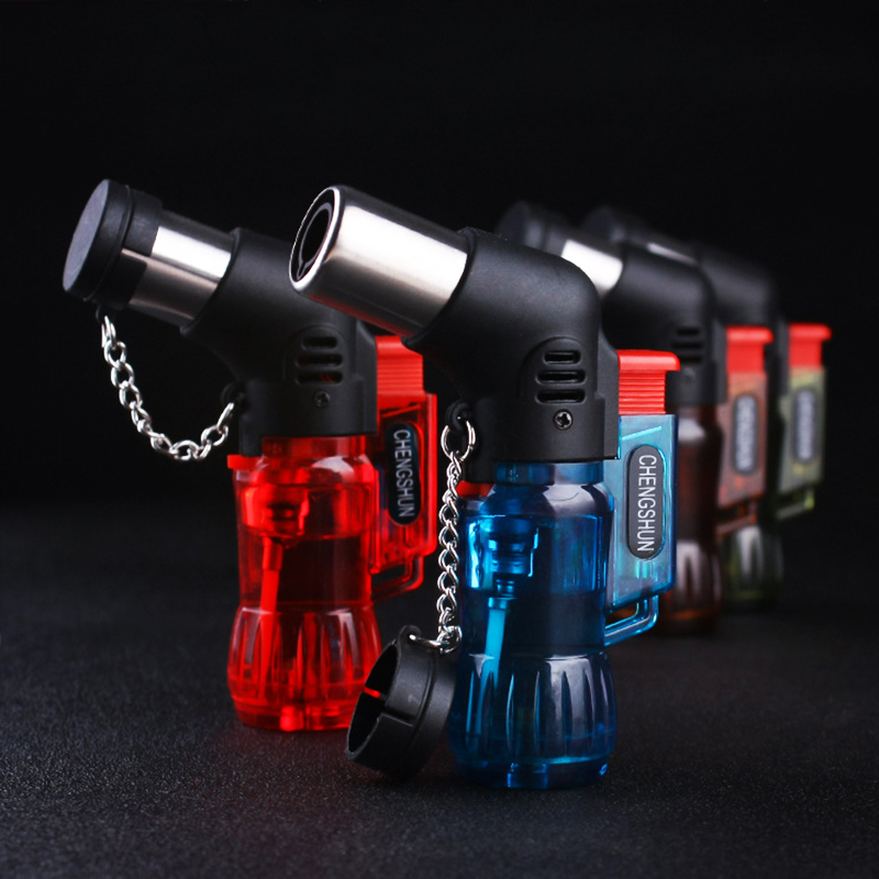 Mini Butane Jet Torch Cigarette Windproof Lighter Random Color Plastic Fire Ignition Burner NO GAS