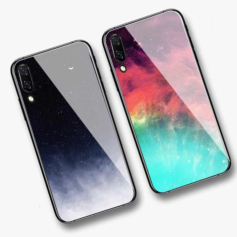 Colorful Tempered Glass Phone Case For Huawei P30 P10 P20 Lite Mate 10 20 Pro Nova 2 2i 3 3i Honor 10 8 9 Lite 8X 7C Cover Coque