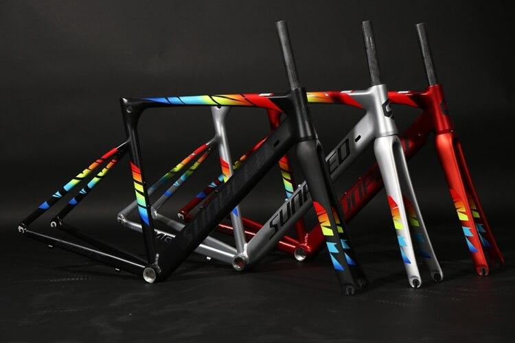 Cadre de vélo de route 2018 R8000 et MARS cadre de route en alliage Super léger + fourche en carbone + cadre de vélo de course casque