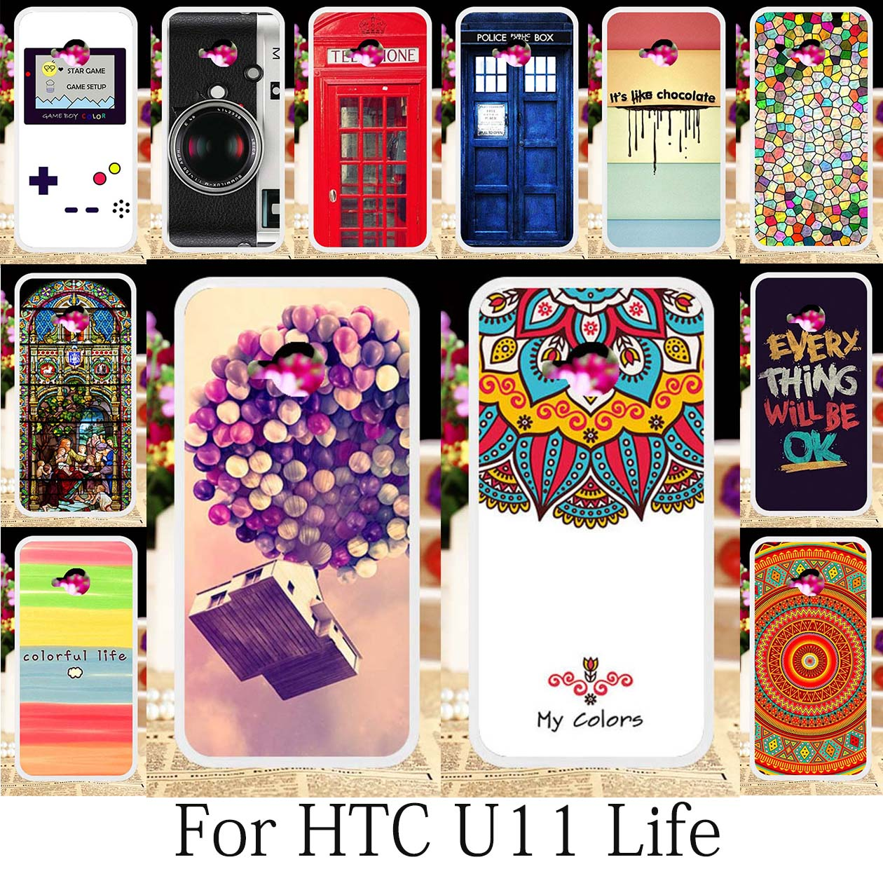 TAOYUNXI Cases For HTC U11 Life Cases HTC U11 Life Cover Silicone Smart Boys Case Cool Design Camera Games Housing Hood 5.2 inch