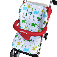 Cute Baby Stroller Seat Cushion Pram Mattress Padding Liner Child Carriage Baby Car Cover Stroller Accessory Thermal Thicken Pad
