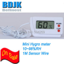 Free Shipping Mini Digital Hygrometer with External Sensor Wire Humidity Meter
