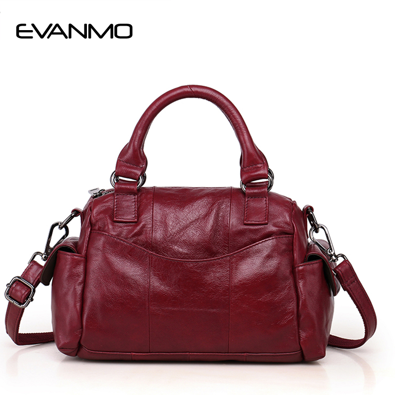 New Arrival Boston Tote Bag Women Genuine Leather Handbags Fashion Brand Ladies Shoulder Bag Classic Designers Bolsa Feminina