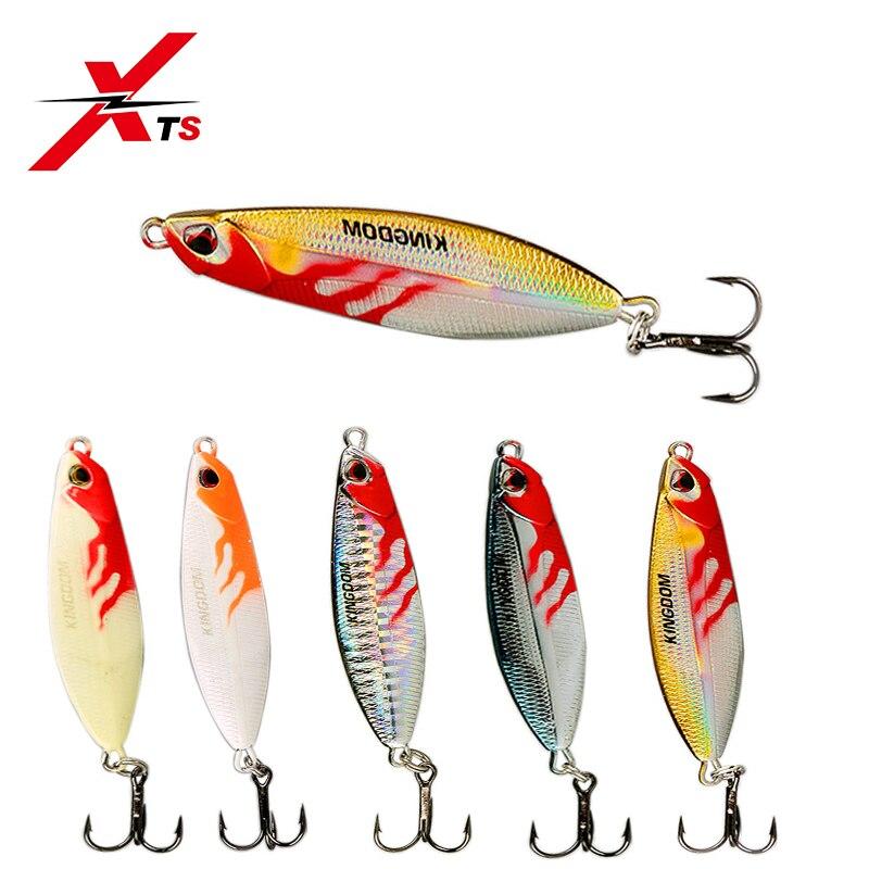 XTS Jigging Metal Jig Fishing Lure Shone Sinking Spoon Bait Aqueous Layer Jerkbait Lure5379