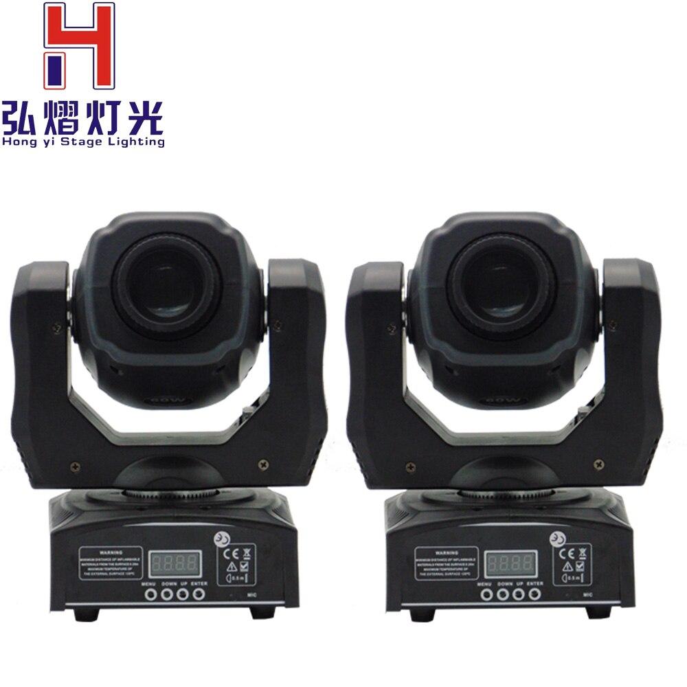 Expédition rapide CHAUD/2 pcs/lot Eyourlife LED Inno Pocket Spot Mini Lumière Principale Mobile 60 w DMX dj 8 gobos lumières d'étape d'effet