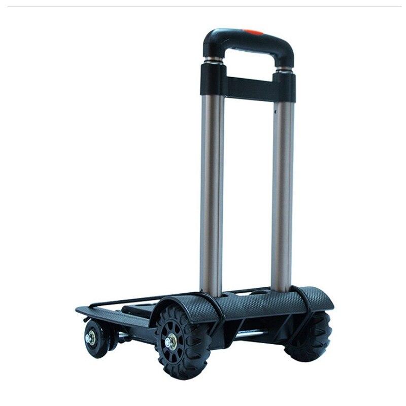 Folding Shopping Cart Portable Trolley Home Four Wheeled