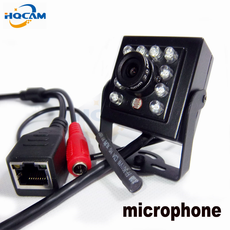 HQCAM FULL-HD 1080P Night vision mini ip camera 10pcs 940nm led Security ip Network Camera mini IR IP Camera External microphoneHQCAM FULL-HD 1080P Night vision mini ip camera 10pcs 940nm led Security ip Network Camera mini IR IP Camera External microphone
