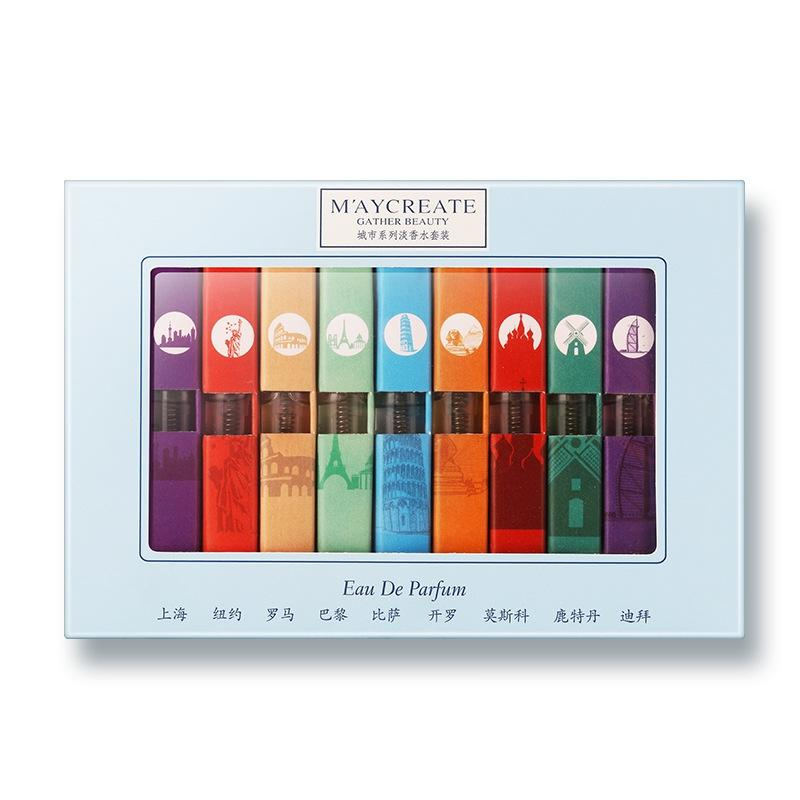 9 pz Diversi Liquido Profumo 3 ML donne profumo Fragranza originale e Deodorante Regalo di Festival
