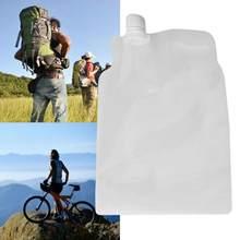 Novo 2l transparente dobrável saco de água ao ar livre acampamento caminhadas balde insípido selo segurança dobrável sacos de armazenamento de água potável