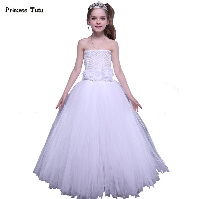 Children Tutu Dress Kids Party Pageant Ball Gowns For Girls Flower ...