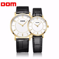 Dom men women lovers wrist watch classic design casual waterproof style super thin pu leather strap.jpg 250x250