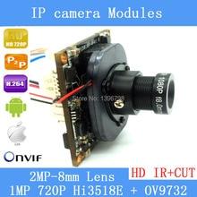 HD 720P 1.0 Megapixel IP Camera upgrade HI3518E + OV9732 1080P Lens IR Cut Filter PoE Cable Security Camera