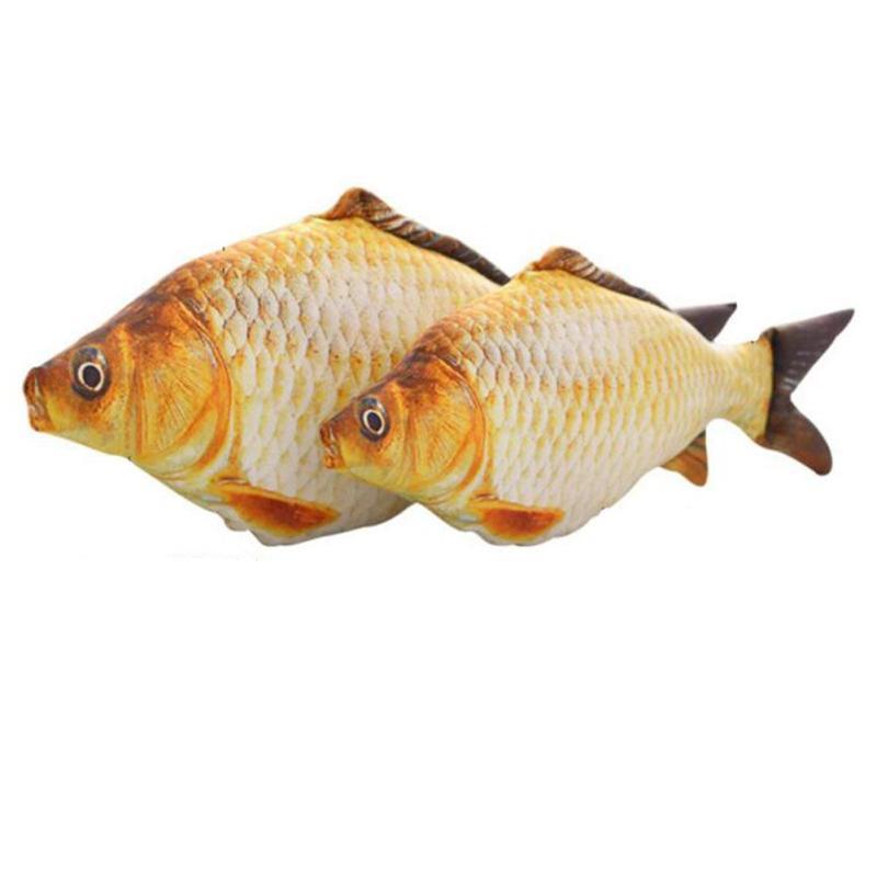 40cm creative 3d printed animal fish cushion pillow fish for Fish shaped pillow