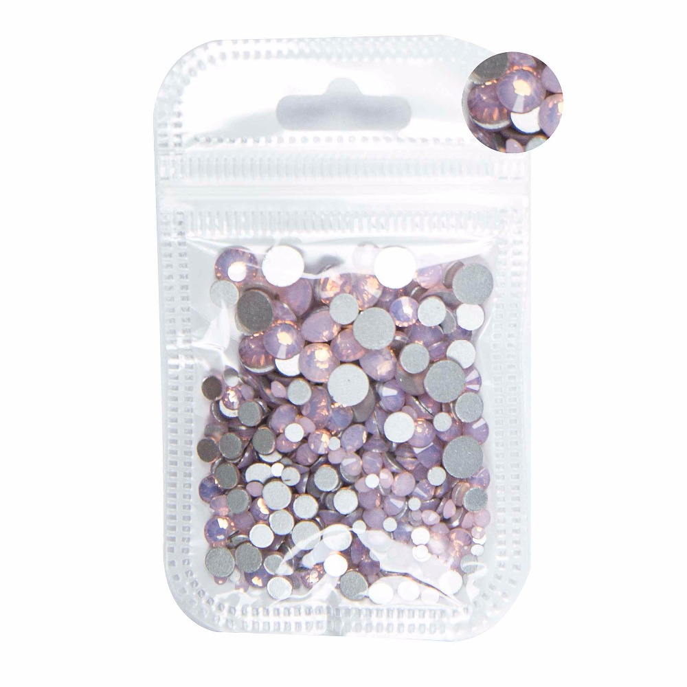 350pcs 5Gram Mixed Size ss3 ss30 Blue Green Pink White Opal 3D Crystal Nails Art Rhinestone Flatback Glass Nail art Decoration in Rhinestones Decorations from Beauty Health