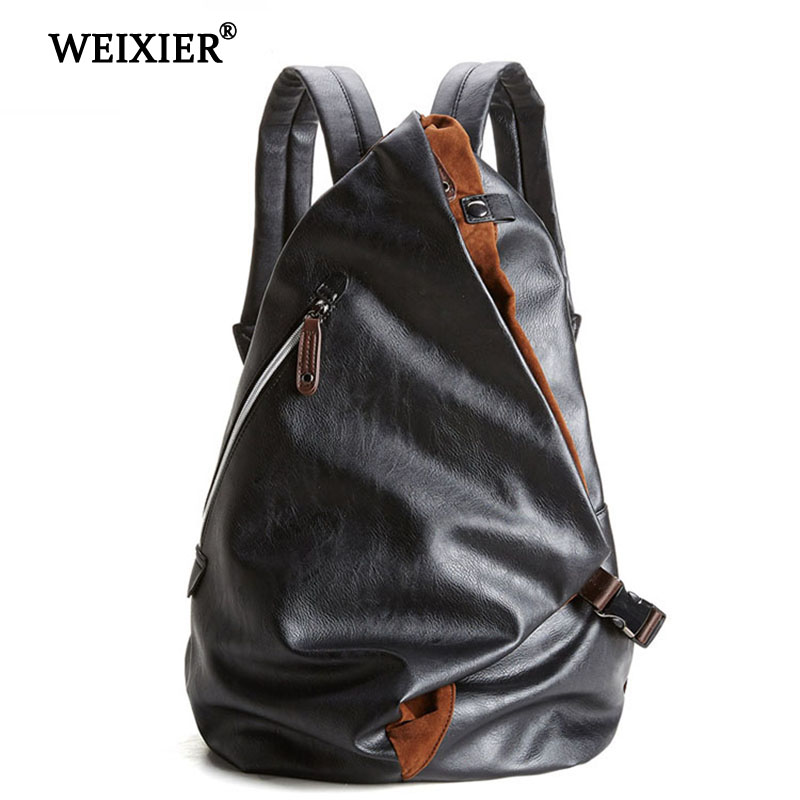 WEIXIER Brand 2019 New PU Leather Large Capacity Men Bag Multifunctional Casual Women Hand bag Fashion Luggage Travel