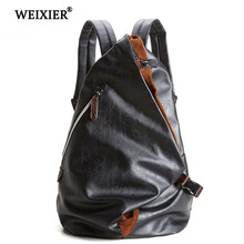 WEIXIER Brand 2019 New PU Leather Large Capacity Men Bag Multifunctional Casual Bag Women Hand bag Fashion Luggage Travel Bag цена в Москве и Питере