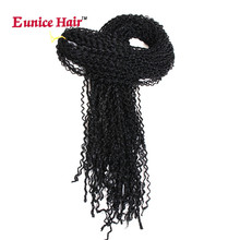 купить✲  Eunice Синтетическая коробка Косы Волосы тонкие крученые волосы 28 дюймов Zizi Braid Чешский стиль