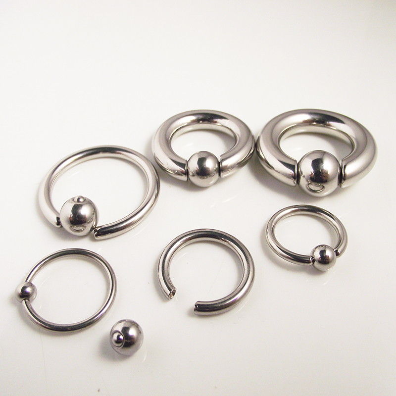 2Piece Tragus Ear Piercing Nose Nipple Ring Lips