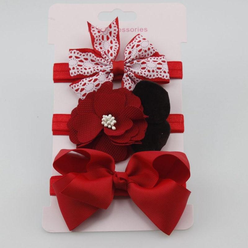 3Pcs/Lot Baby Girl Headbands Hair Accessories Cotton Flower Baby Headband Turban Bowknot Elastic Hairband Headwear