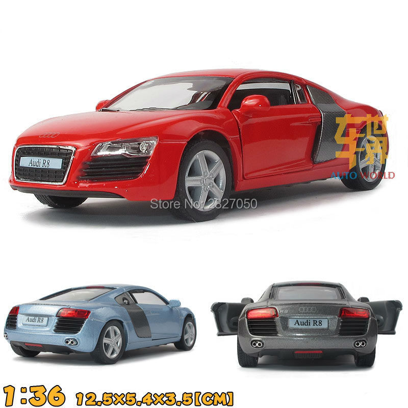 1:36 5 Inch Mini R8 Sports Car Alloy Model Racing Car Pull Back Toy Car As Gift For Boy Kids