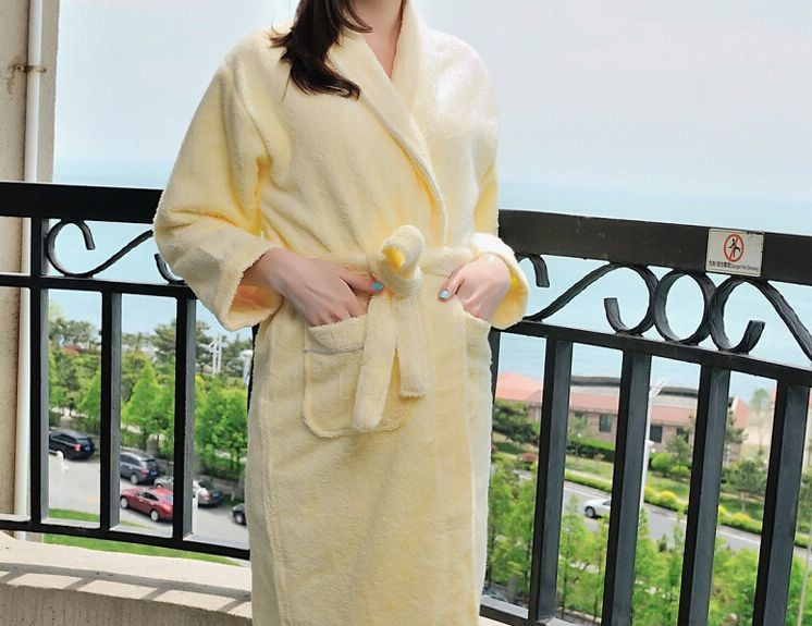 Women\'s Mid-Calf Cotton Sleep Lounge Robes RBS-D RB22 9