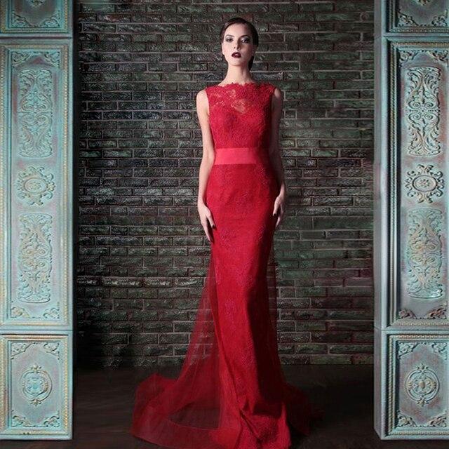 Vestido de fiesta rojo vintage